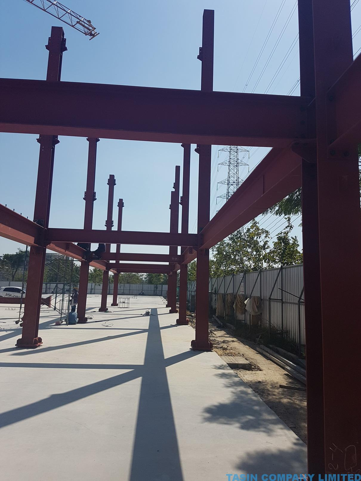 TU Carpark Steel TASIN 09 – Thailand Construction Contractor
